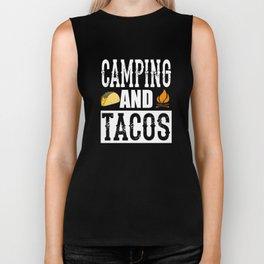 Camping and Tacos Funny Taco Biker Tank