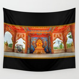 Golden Temple Laos Wall Tapestry