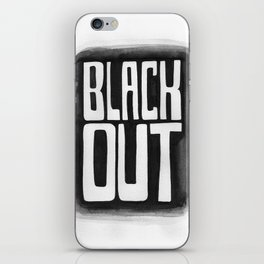 Black Out No.2 iPhone Skin