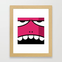 Monsters⁴ : Red Framed Art Print