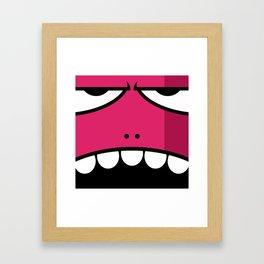 Monsters⁴ : Red Framed Art Print