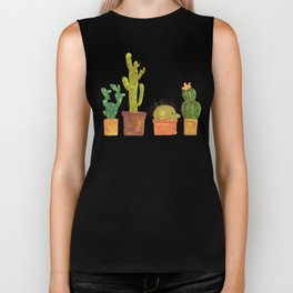 Hedgehog and Cactus (incognito) Biker Tank