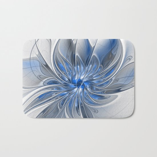 Abstract Art with Blue Bath Mat
