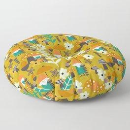Autumn gnome garden Floor Pillow