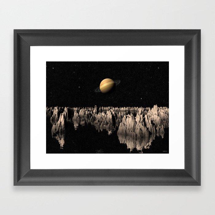 Planet Saturn Framed Art Print