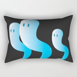 A trio of glassy blue ghosts Rectangular Pillow