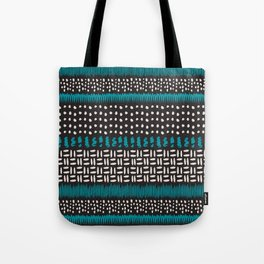 Dots, spots and zigzags pattern Tote Bag