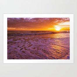 Orange Sunrise Art Print
