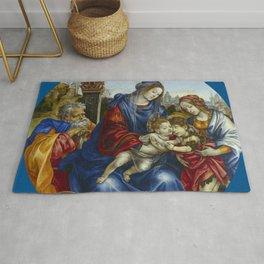 "Filippino Lippi ""The Holy Family with Saint John the Baptist and Saint Margaret"" Rug"