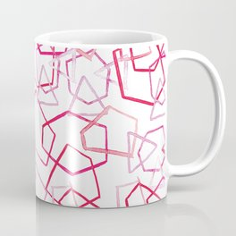 Red Geometrics, Watercolour Coffee Mug