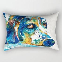 Colorful Beagle Dog Art By Sharon Cummings Rectangular Pillow