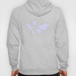 World with no Borders - lavender Hoody