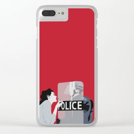 Red woman n3 Clear iPhone Case