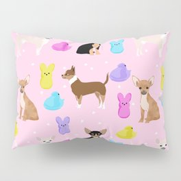 Chihuahua dog breed marshmallow peeps easter spring traditions cute dog breed gifts chihuahuas Pillow Sham