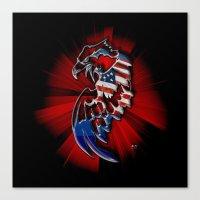 patriotic Canvas Prints featuring Patriotic Eagle by Mr D's Abstract Adventures