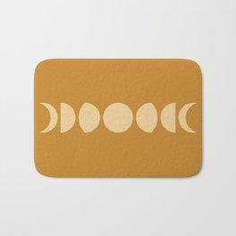 Minimal Moon Phases - Orange Bath Mat