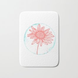 Daisy Birth Flower - April - Coral Bath Mat