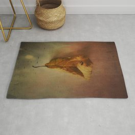 Lonely Autumn Leaf Rug