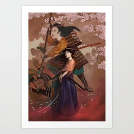 The Spirit of Tomoe Gozen Art Print