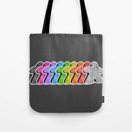 Meeple Rainbow Row Tote Bag