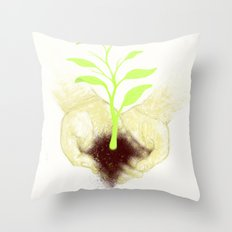 In your hands Throw Pillow