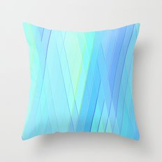 Re-Created Vertices No. 19 by Robert S. Lee Throw Pillow