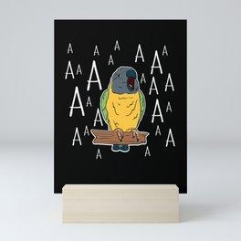 Screaming Senegal Parrot Mini Art Print