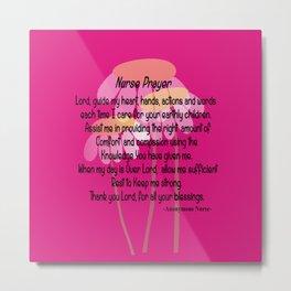 Christian Nurse Prayer Metal Print