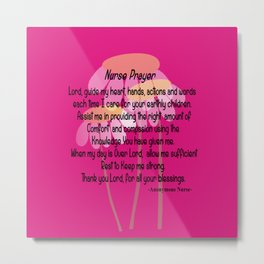 Christian Nurse Prayer Metal Print