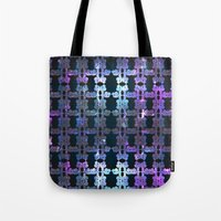the shining Tote Bags featuring Shining Shapes by Nahal