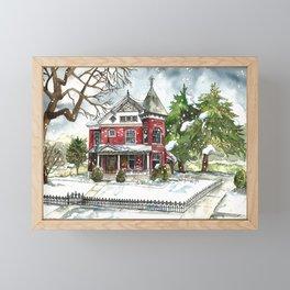 Snowfall Framed Mini Art Print