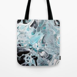 Ice Cold, pale blue Acrylic Painting Tote Bag