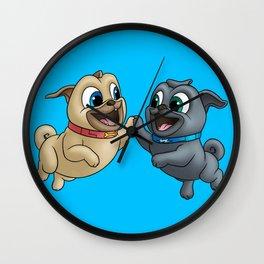 pug tag Wall Clock
