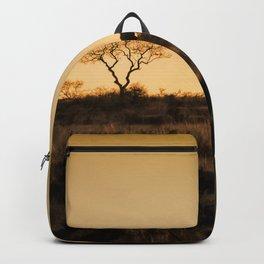 Elephant Sunset Silhouette Backpack