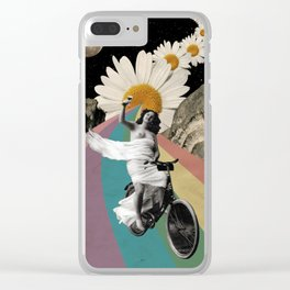 Biking Clear iPhone Case
