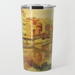 The river that reflects the city Travel Mug