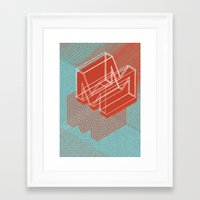 maze runner Framed Art Prints featuring Maze by Mila Spasova