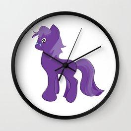 Sweet Cute Purple Little Baby Unicorn. Wall Clock