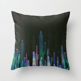 cactus nigth Throw Pillow