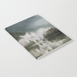 Dreamlike Morning at the Lake - Nature Forest Mountain Photography Notebook