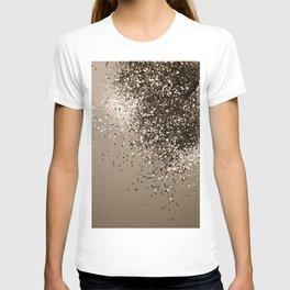 Sparkling Sepia Lady Glitter #1 #shiny #decor #art #society6 T-shirt