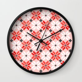 Christmas Quilt - pattern no2 Wall Clock