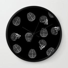 my poor brain - ffs - black version-  Wall Clock