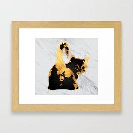 Golden Cat Framed Art Print