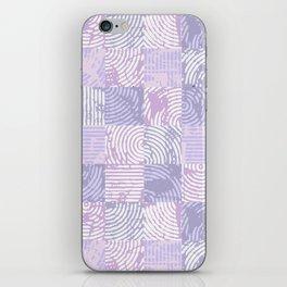 Purple woodcuts iPhone Skin