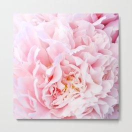 Peony Flower Photography, Pink Peony Floral Art Print Nursery Decor A happy life - Peonies 3 Metal Print