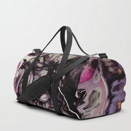 Purple planet, acrylic on canvas Duffle Bag
