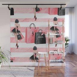 Fashion girl shopping Wall Mural