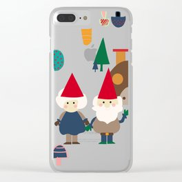 gnome pink Clear iPhone Case