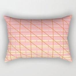 grid check layer_pink, biege Rectangular Pillow